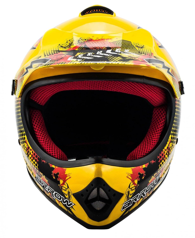 "/· Kids-Cross Helmet /· Off-Road Enduro Motorcycle Moto-Cross-Helmet MX Child /· DOT certified /· Click-n-Secure/™ Clip /· Carrier Bag /· M Armor /· AKC-49 /""Titan/"" silver 55-56cm"
