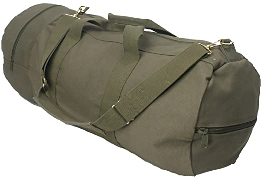 Olive Drab - Military Double-Ender Sports Shoulder Bag (Cotton Canvas) by Army  Universe  Amazon.in  Sports a3f4b5af56d