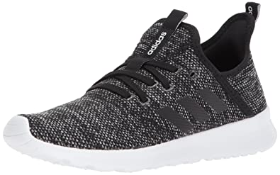 Adidas Women's Cloudfoam Pure Running Shoe, Black/Black/White, ...