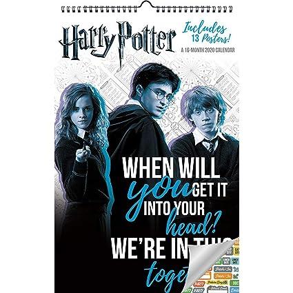 Harry Potter Calendario de gran tamaño 2020, calendario de ...