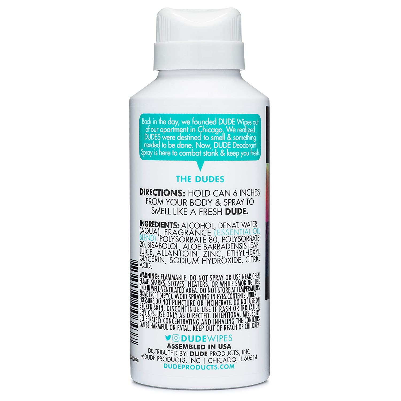 Amazon.com: Dude Products Desodorante corporal en spray, con ...