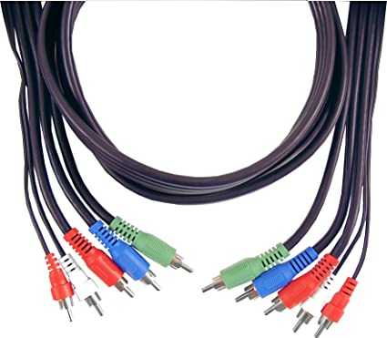 GE 73321 6-Feet Component Video/Audio Cable, Black