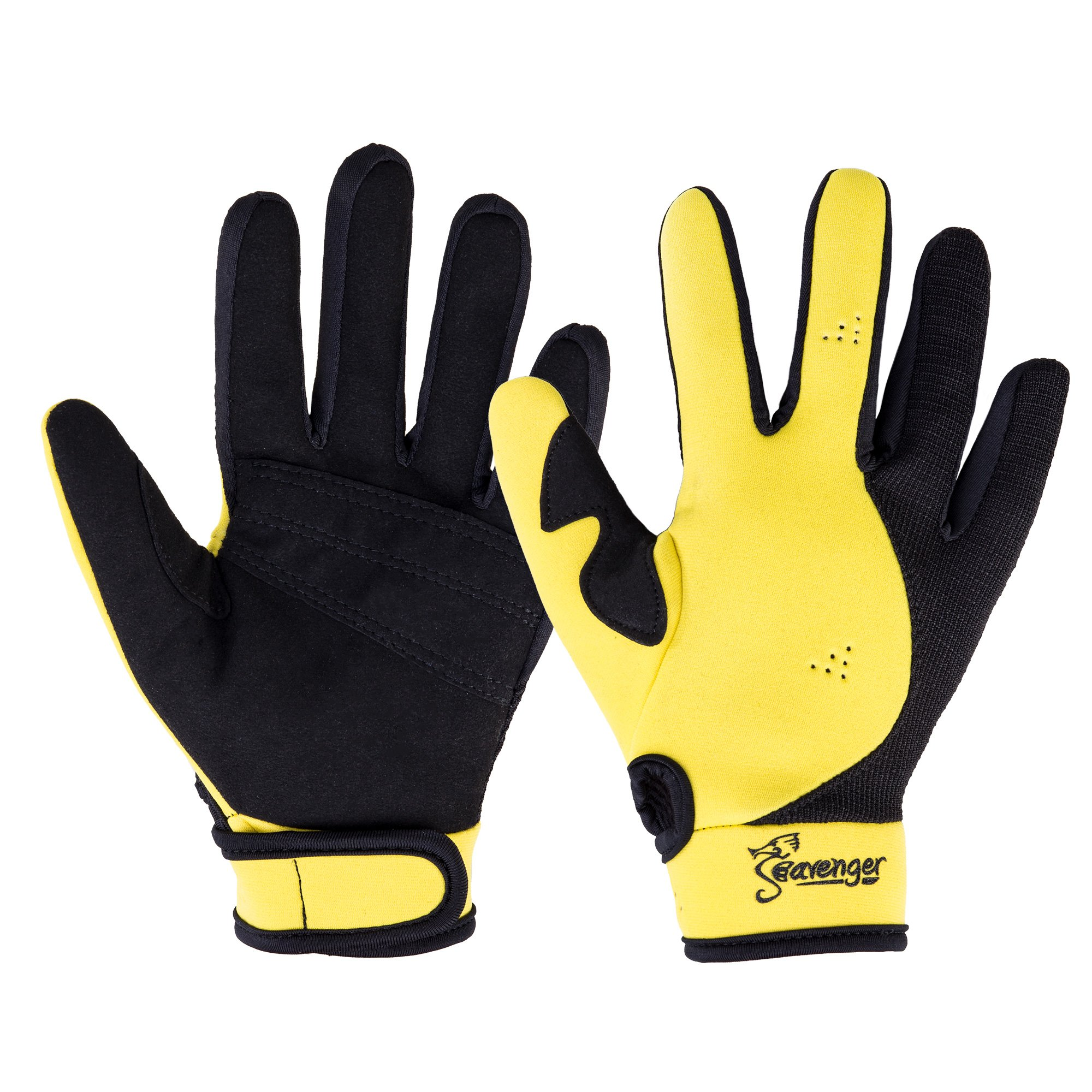 Seavenger Abyss Dive Gloves | 1.5mm Neoprene Mesh | Scuba Diving, Wakeboarding, Spearfishing (Yellow, X-Small) by Seavenger
