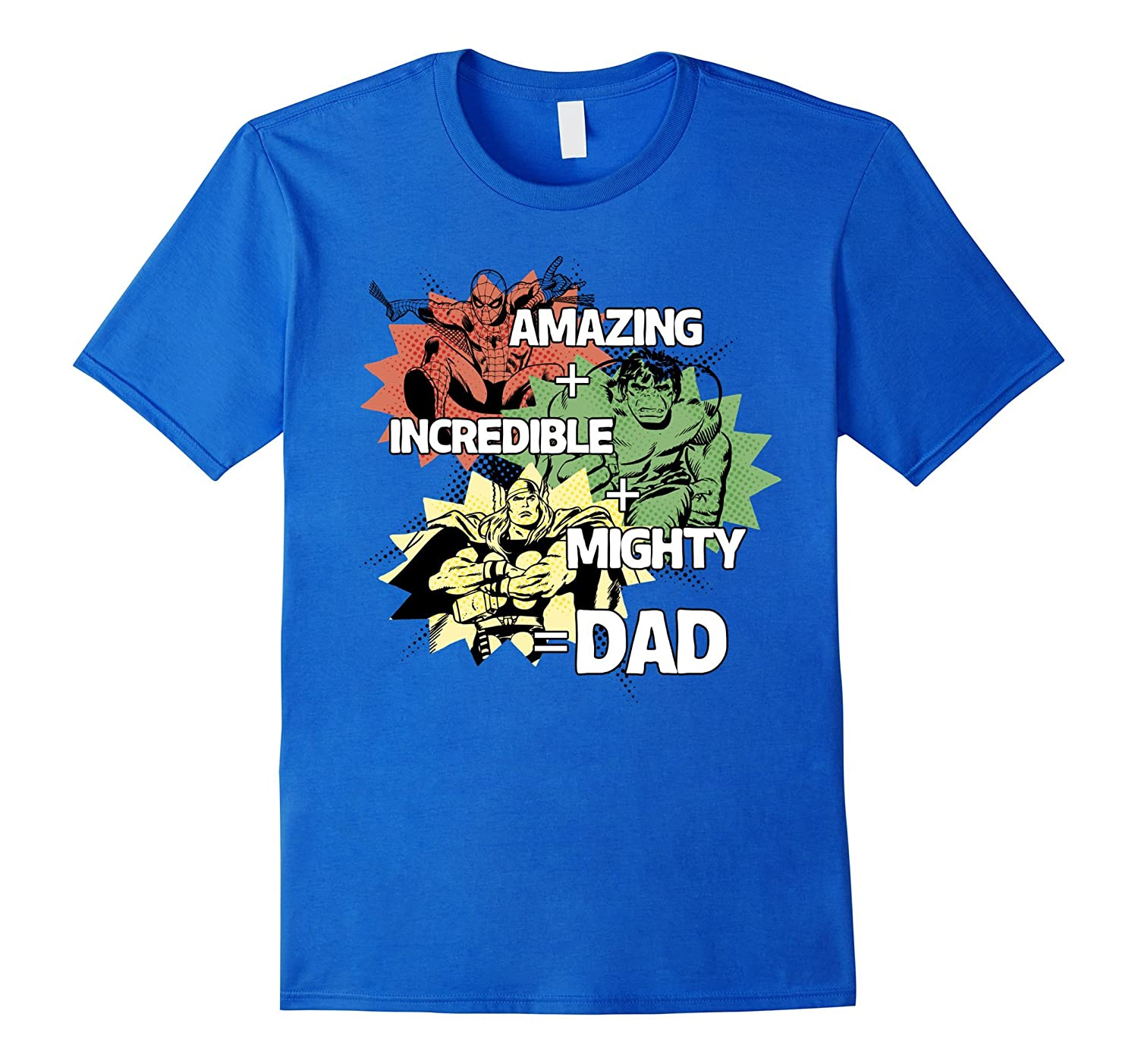 ff7bacef Marvel Avengers Fathers Day Dad Qualities Graphic T-Shirt-PL – Polozatee