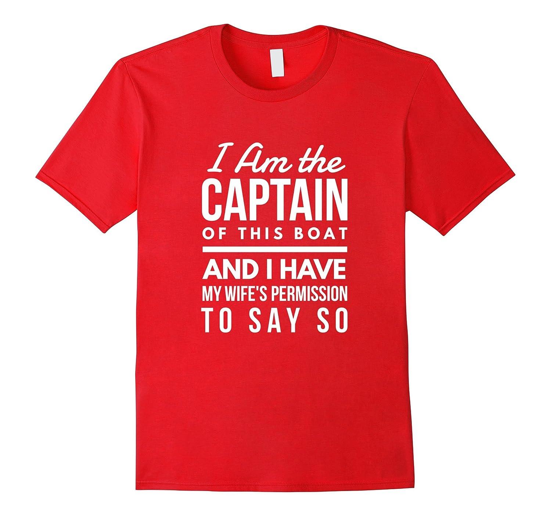 Mens I Am The Captain of This Boat Funny Sailing Novelty T-Shirt-Art