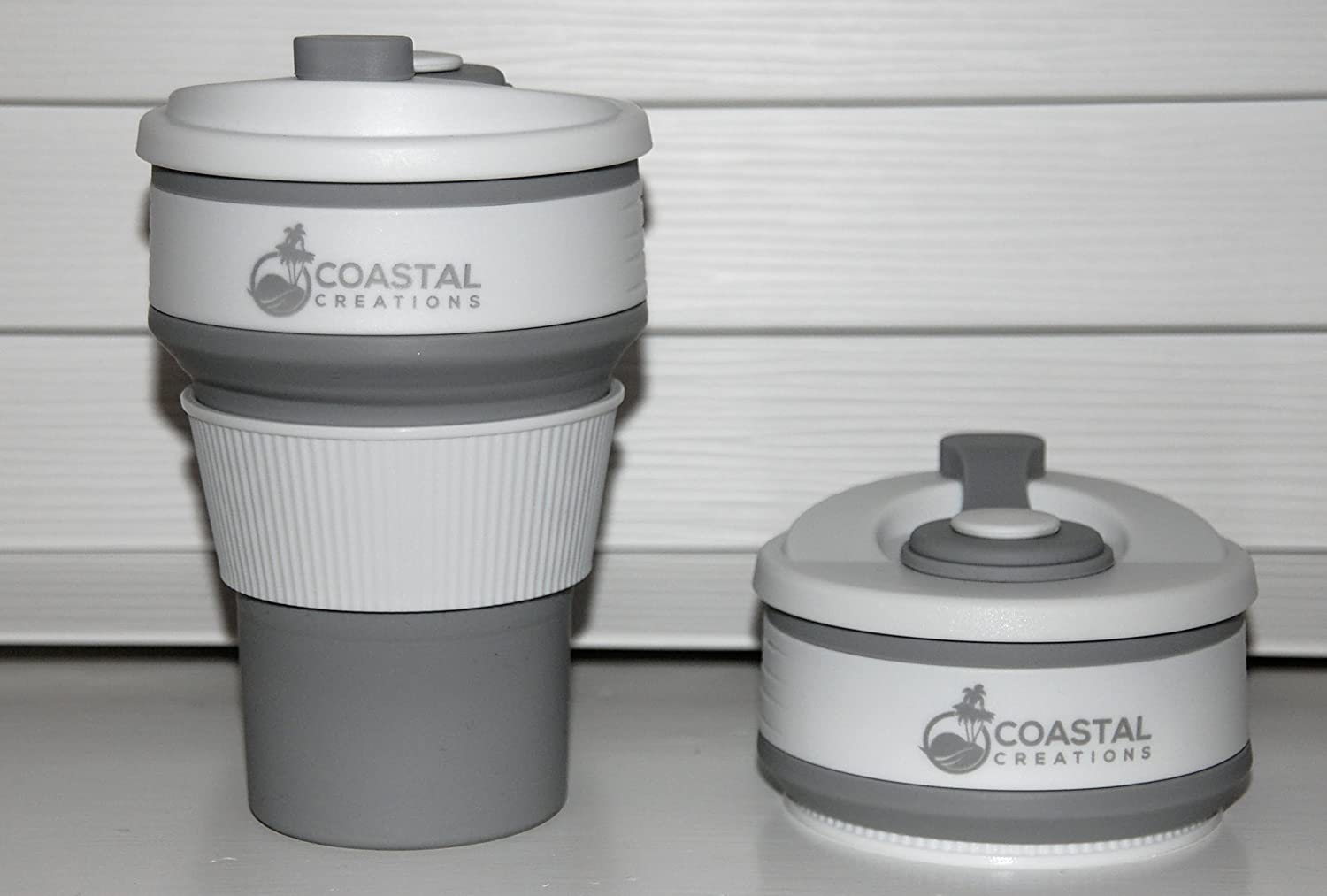 Collapsible Coffee Cup - Reusable & Portable, It's Folding Design Makes It The Perfect Travel Mug - Made From Food Grade BPA Free Silicone - Its Leak Proof Design Is Great For Use In The Office, Outside Or At Home - The Ultimate Gift For Coffee Lovers