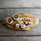 "Rustic Olive Wood Cheese / Serving / Presentation / Chopping / Cutting Board - Length Average 11"" x Min Width 5"" x Depth 0.75"""