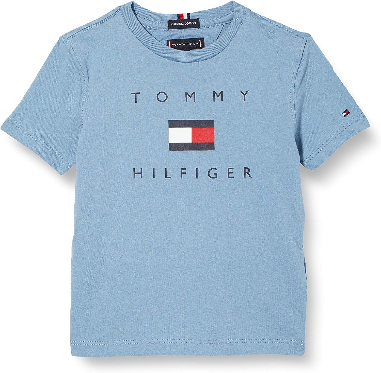 Tommy Hilfiger TH Logo tee S/S Camiseta para Niños