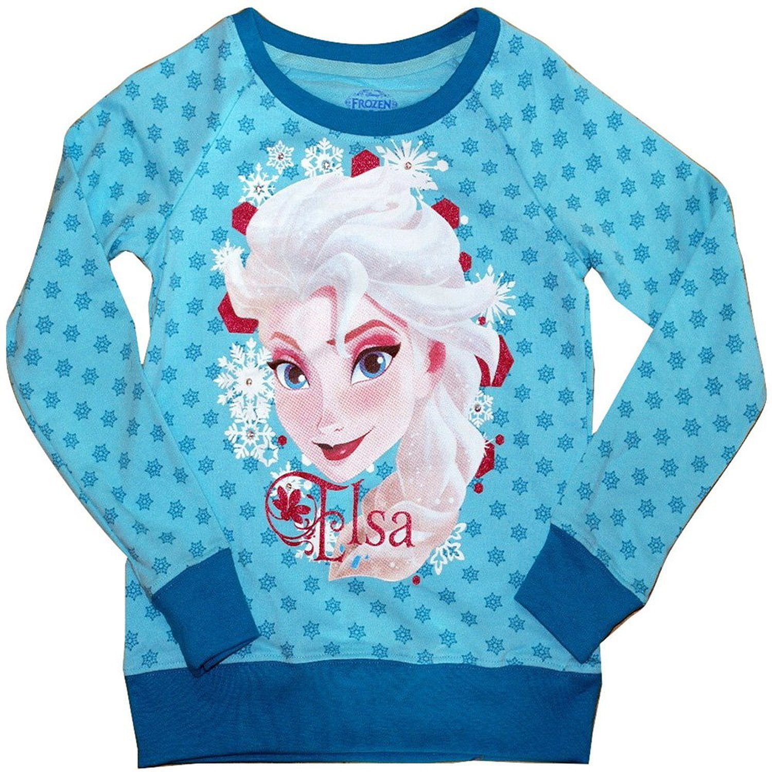 Disney Frozen Elsa Long Sleeve Shirt (Large (10-12))