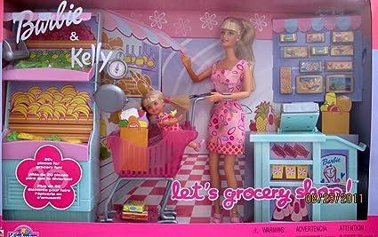 Amazon.com: Barbie \u0026 Kelly LET'S GROCERY SHOP 27 Piece Playset
