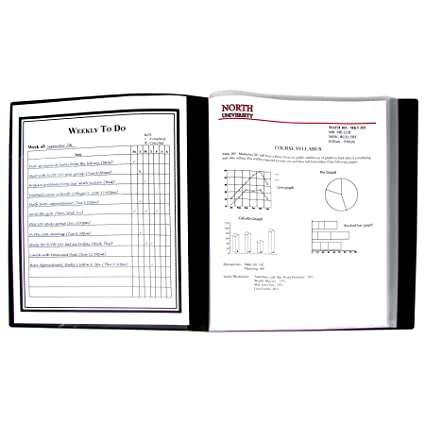 amazon com c line 12 pocket bound sheet protector presentation