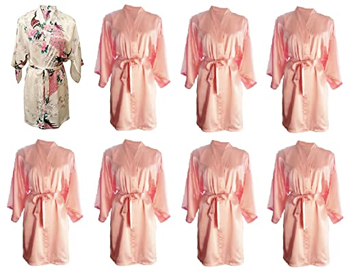 Party Pack Set of 8 Pretty Hen Party Getting Ready Robes, OSFM ...