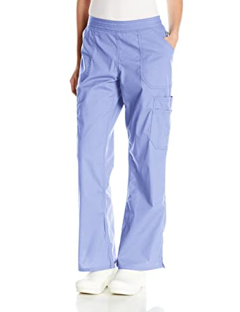 3592f74768e Dickies Women's Petite EDS Signature Stretch Moderate Flare Leg Pull-On Pant,  Ciel Blue