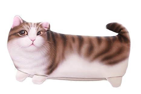 LB de 118 – 1 marrón Tiger gato estuche funda estuche para dama Japón Harajuku kawaii