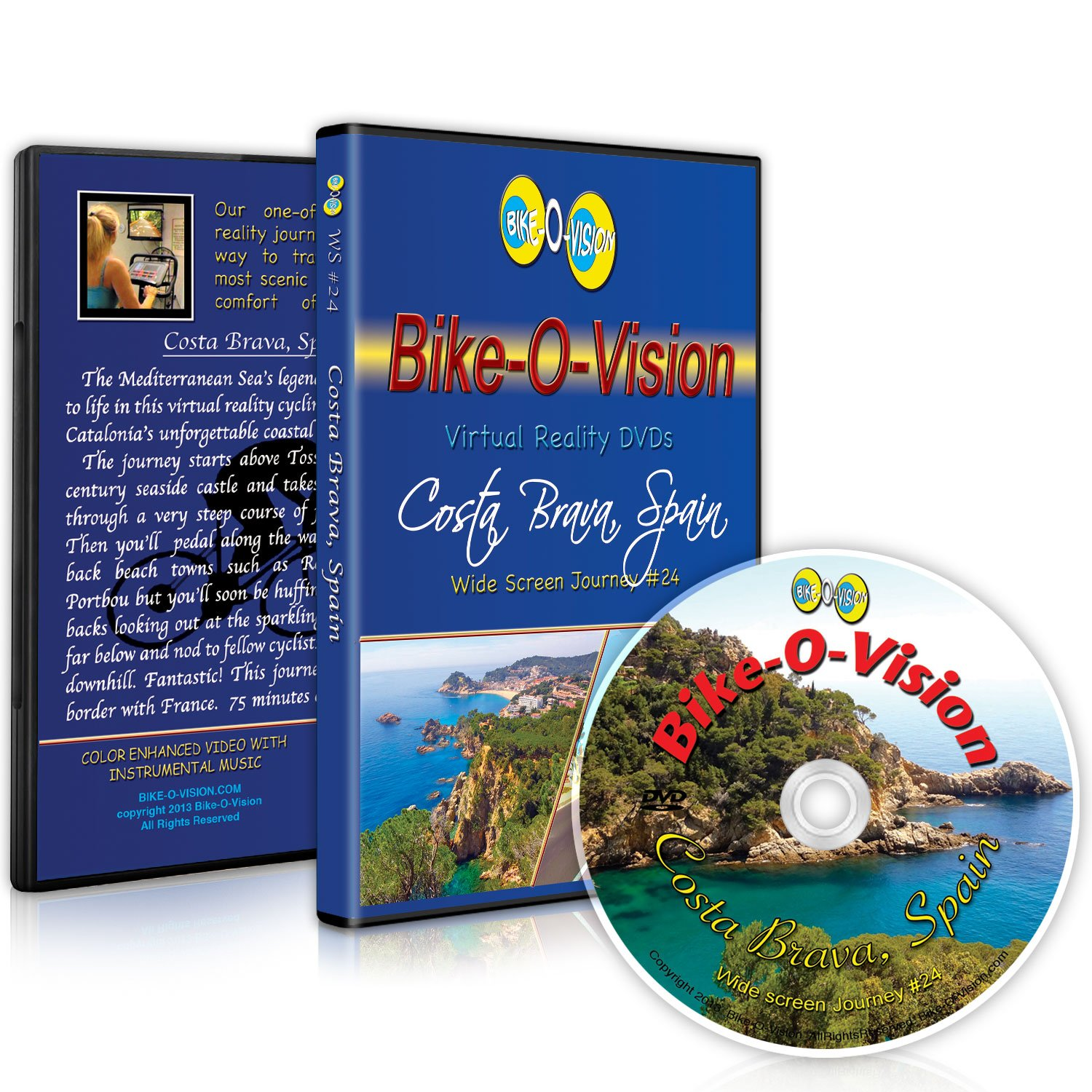 Bike-O-Vision - Virtual Cycling Adventure - Costa Brava, Spain - Perfect for Indoor Cycling and Treadmill Workouts - Cardio Fitness Scenery Video (Widescreen DVD #24)