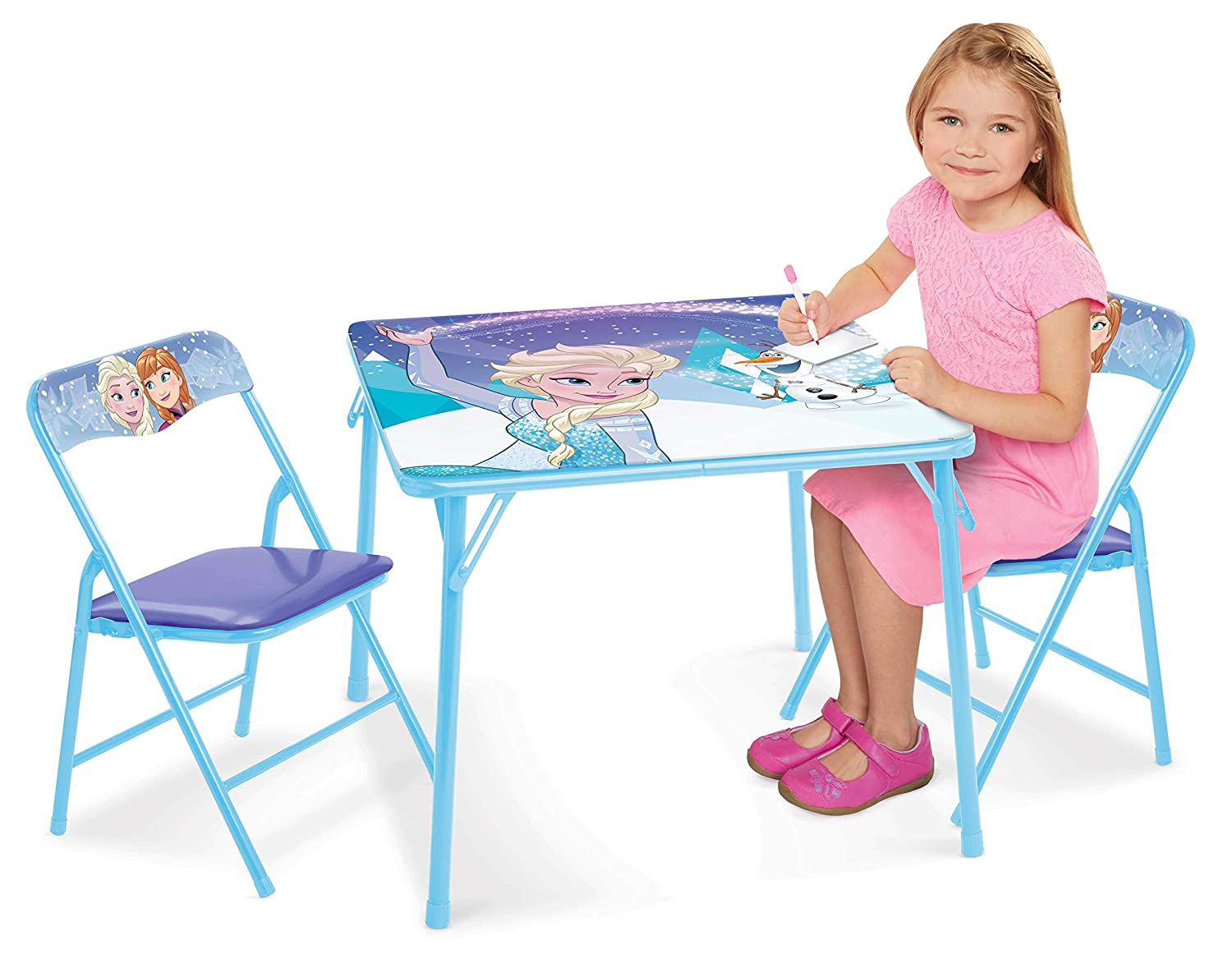 Frozen Table Chairs Set – Sparkle Like Magic Activity Table 2 Chairs