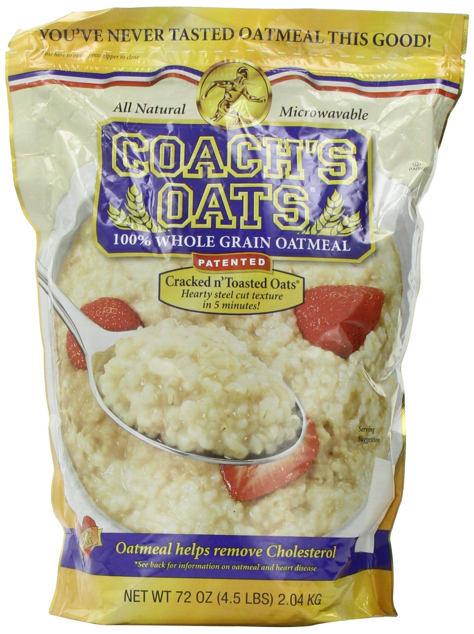 Coachs Oats 100% Whole Grain Oatmeal, 4.5 lbs
