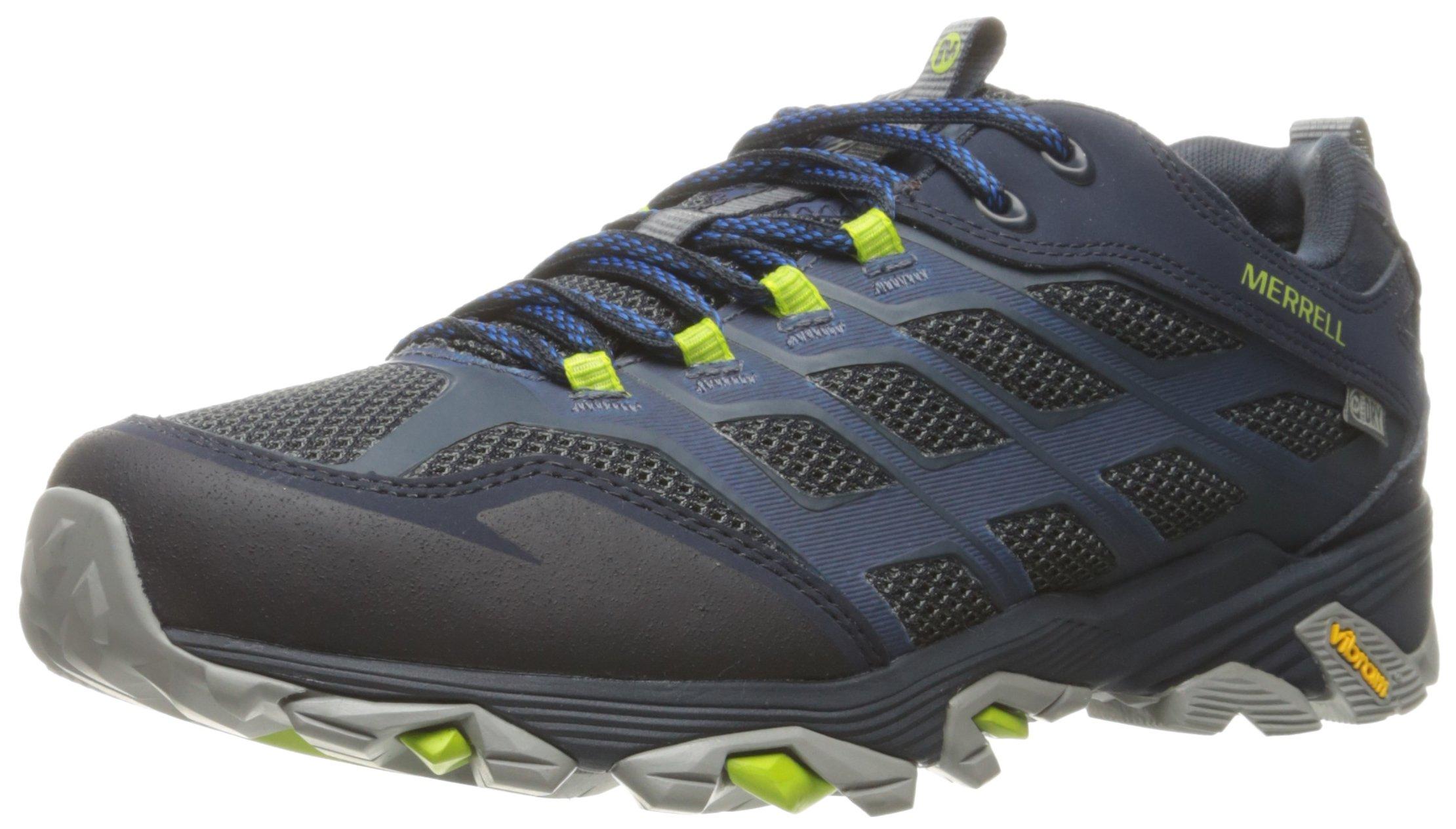 Merrell Men's Moab FST Waterproof Hiking Shoe, Navy, 8 M US