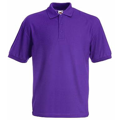 73503c59 Fruit of the Loom Unisex Kids 65/35 Short Sleeve Polo Shirt: Amazon.co.uk:  Clothing