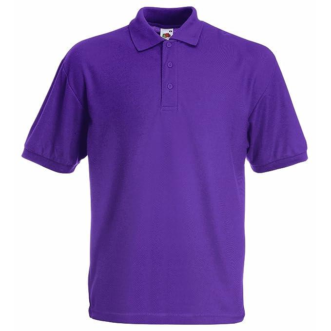 fd0a91082b27 Fruit of the Loom Unisex Kids 65 35 Short Sleeve Polo Shirt  Amazon.co.uk   Clothing