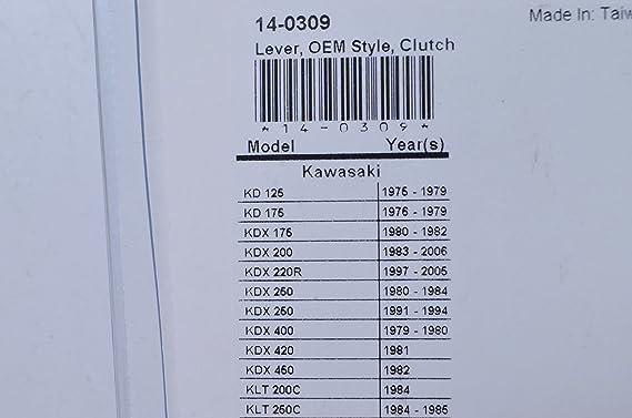 1993-1996 Kawasaki KX 125 Dirt Bike Motion Pro Right Hand Forged Polished Lever