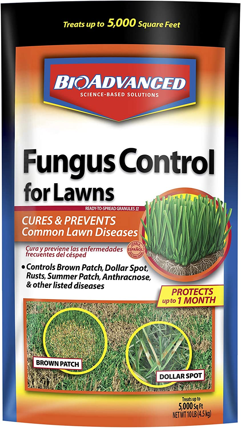 BioAdvanced 701230A Effective Fungicide with Disease Prevention Fungus Control for Lawns, 10-Pound, Granules