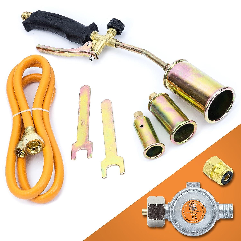 Gasbrenner Dachbrenner Gaslötgerät Abflammgerät Brenner Gasdruckregler SN0286R Sellnet