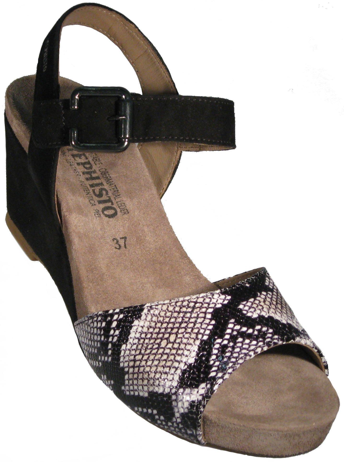 Mephisto Women's Beauty Black Velcalf Premium/Graphite Boa Sneaker