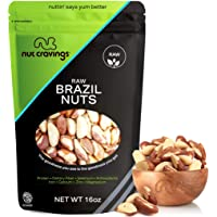 Fresh Raw Brazil Nuts, No Shell, Whole, Superior to Organic (16oz - 1 Pound, Resealble Bag) - Healthy Snack Food Mix, Rich in Protien & Selenium - Keto Friendly, Vegan, Gluten Free, Kosher