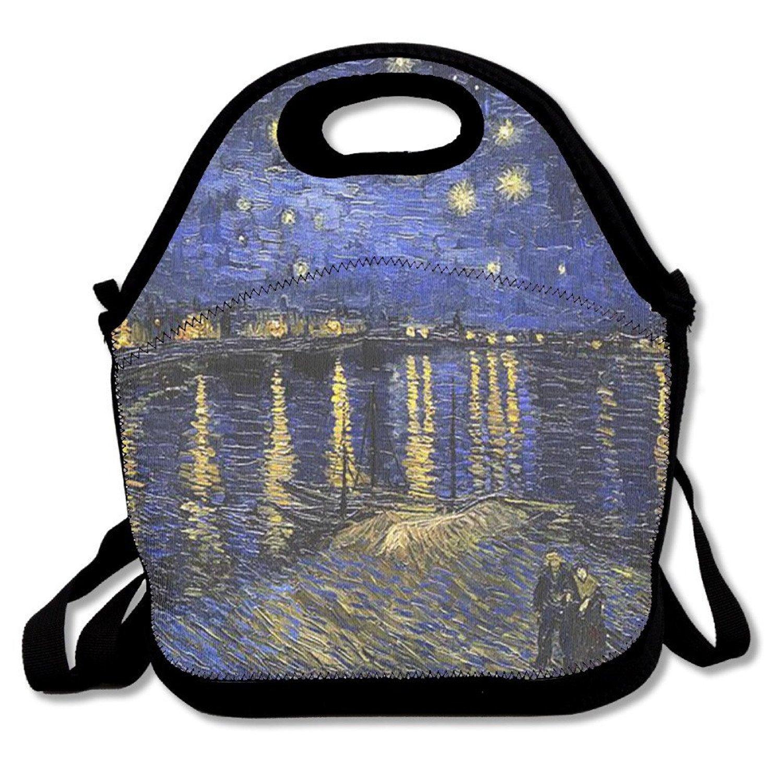 Penin - Van Gogh Monet Pintura al óleo obra maestra fácil al aire libre bolsa para el almuerzo térmico caja de almuerzo con aislamiento bolso más fresco ...