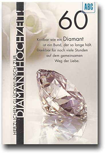 Gluckwunschkarte Zur Diamantenen Hochzeit Herzlichen Gluckwunsch Zur