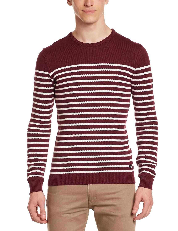 Globe Saxon - Maglione da uomo, rosso (Port), 43-46 (Taglia del produttore : XL) GB01333026