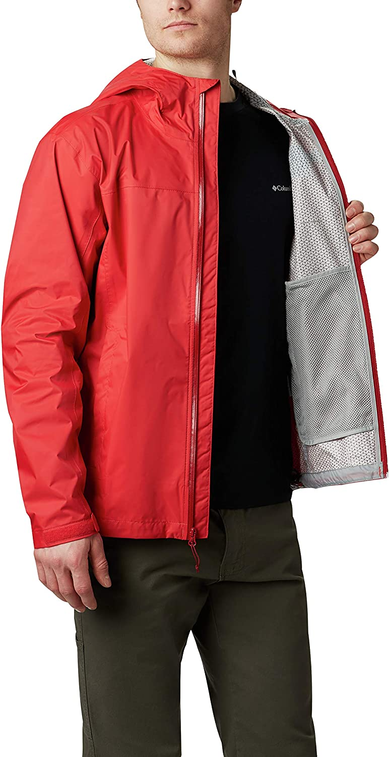 Columbia Mens Evapouration Waterproof and Wicking Rain Jacket