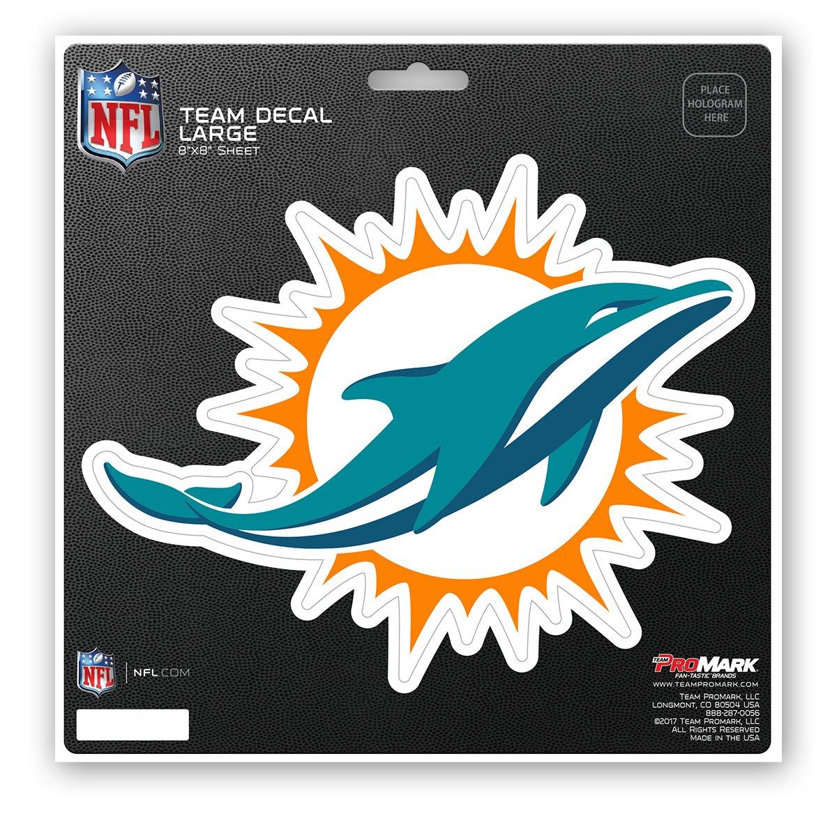 Team Color 8x8 ProMark NFL Miami Dolphins Unisex Miami Dolphins Decal Die Cutmiami Dolphins Decal Die Cut