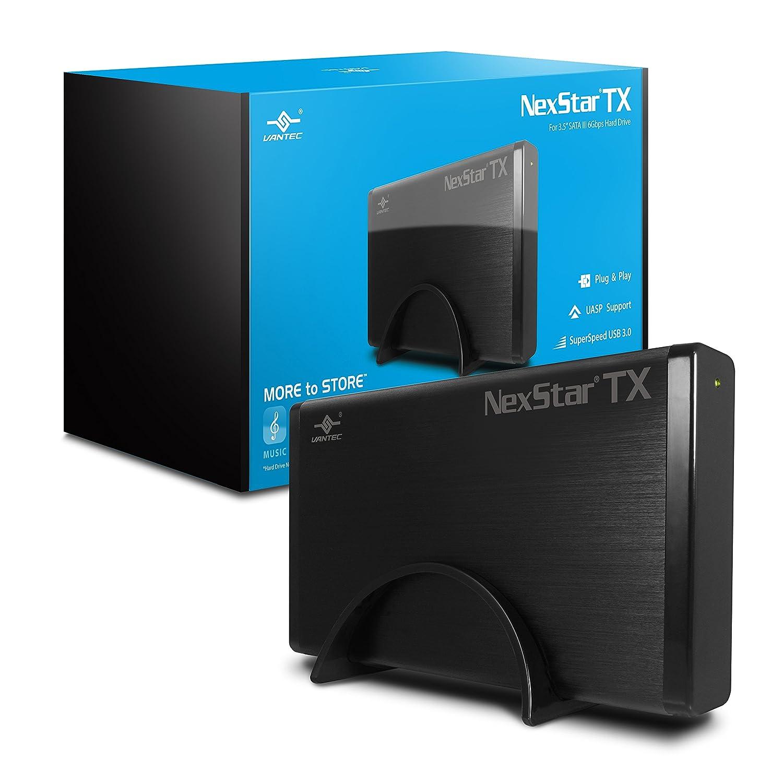 """Vantec NexStar TX 3.5"""" USB 3.0 Hard Drive Enclosure (NST-328S3-BK)"""