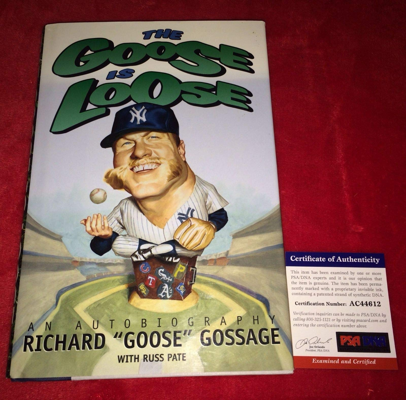 Rich Goose Gossage Hofer Autographed Signed The Goose Is Loose Book PSA/DNA Authentic