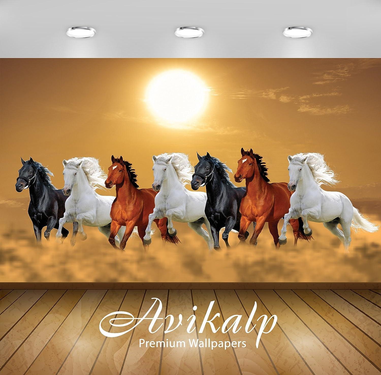 Avikalp 7 Running Horses Success Power Progress Prosperity Vinyl