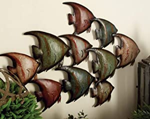 Deco 79 63533 Metal Fish Wall Decor