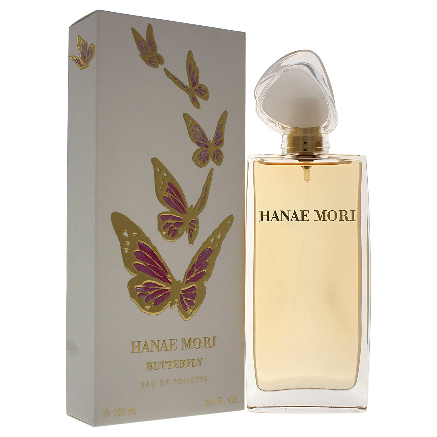 Amazon.com : Hanae Mori Butterfly Eau de Toilette, 3.4 Ounce : Beauty