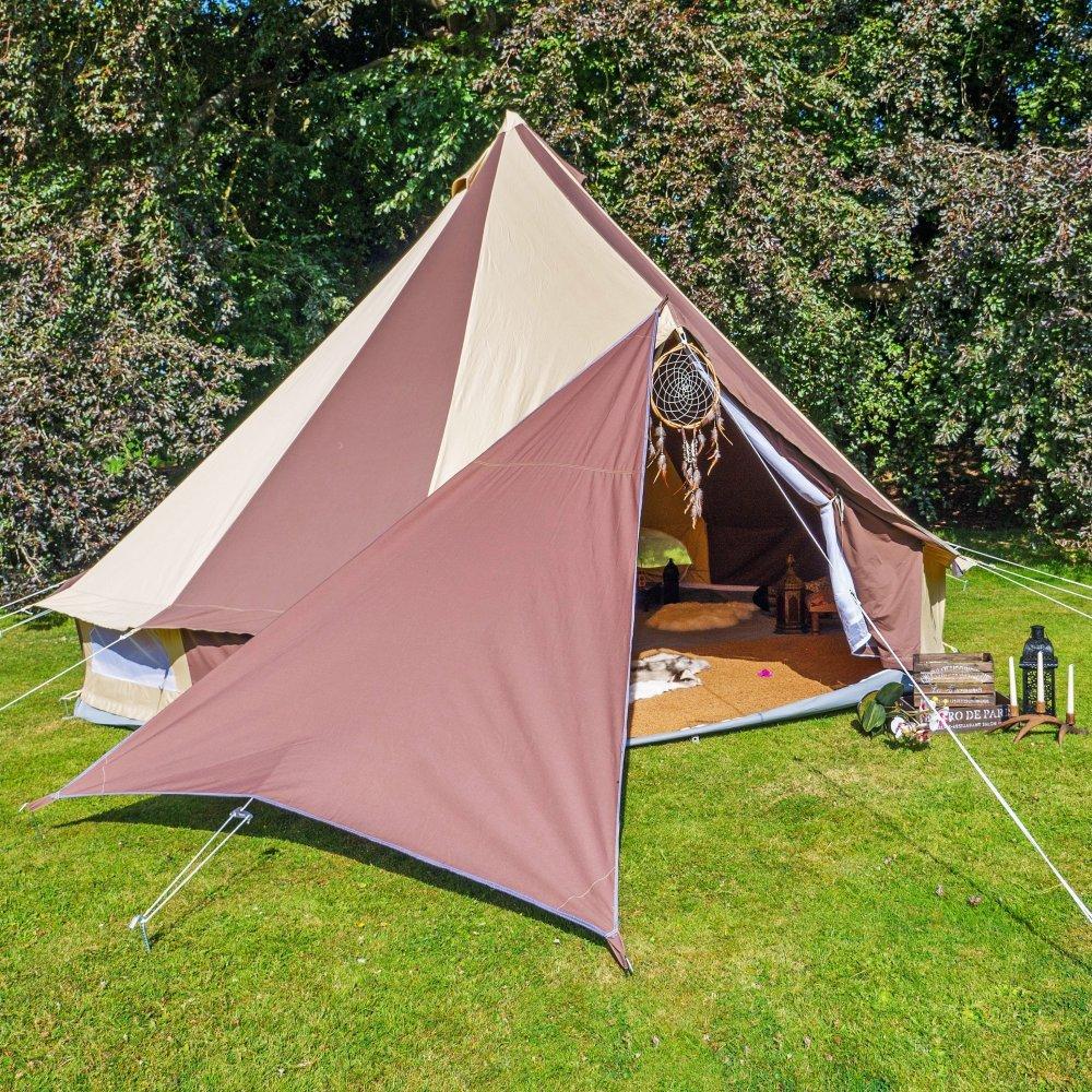 Boutique Camping Bell Zelt Triangle Plane – Schokolade Braun