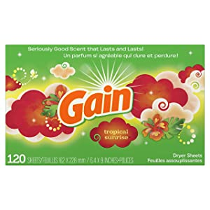 Gain Dryer Sheets, Tropical Sunrise Scent, 120 Count