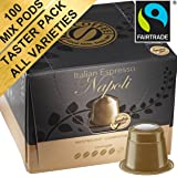 Mixed Taster Pack: 100 Nespresso Compatible Pods. Test-winning Capsules