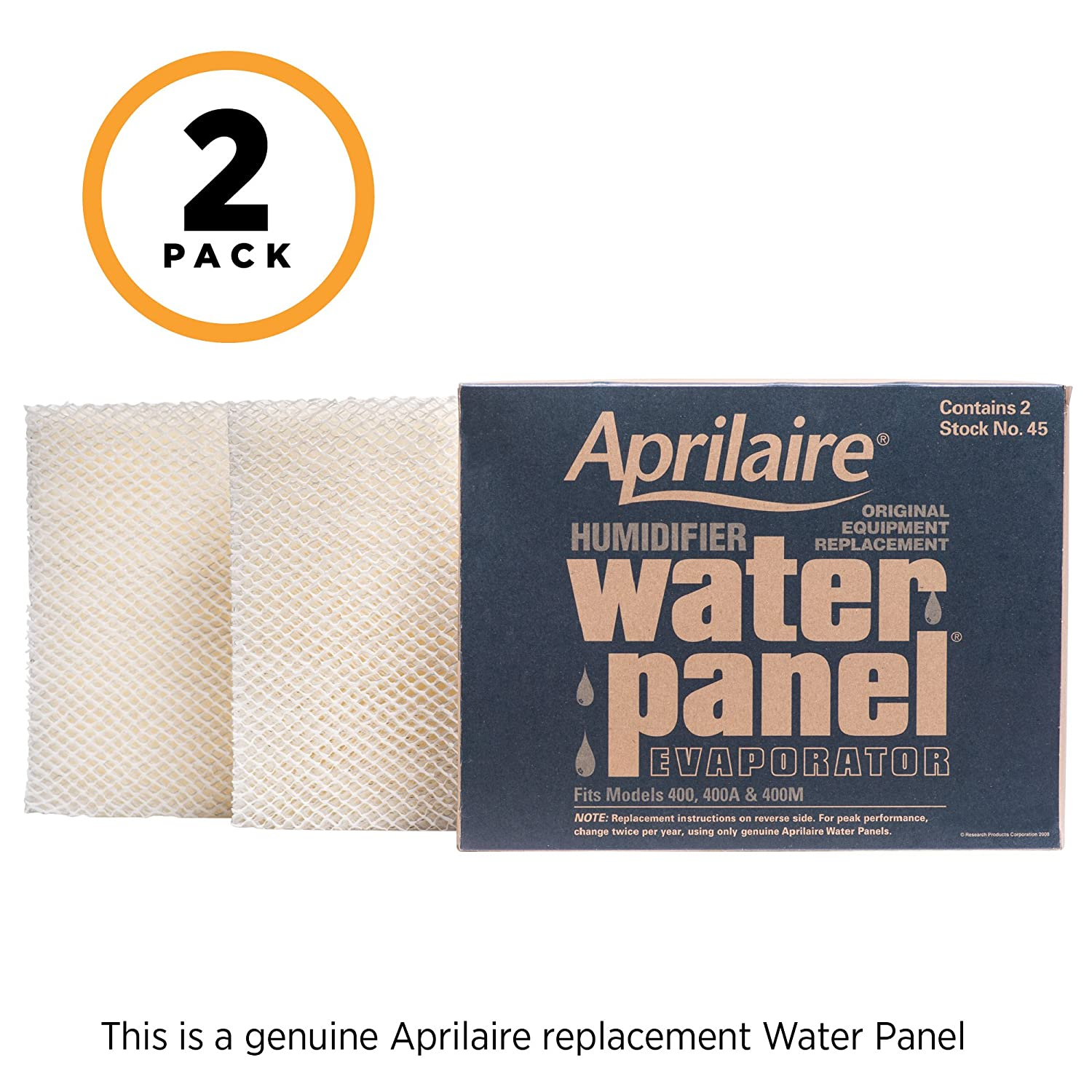 Aprilaire 45 Replacement Water Panel for Aprilaire Whole House Humidifier Models 400, 400A, 400M (Pack of 2)