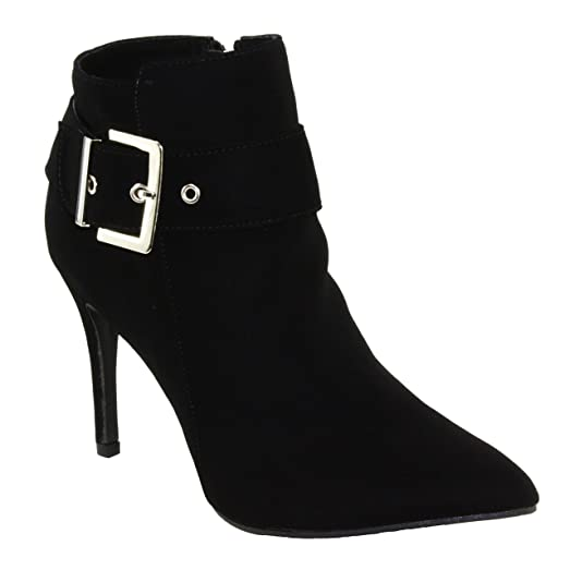 Women's Lindsay-77 Pointed-Toe High Heel Dress Ankle Booties