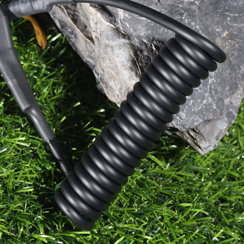 negro Ajustable Sling t/áctico pistola seguro el/ástica cord/ón Primavera correa cuerda con Magic cinta cintur/ón