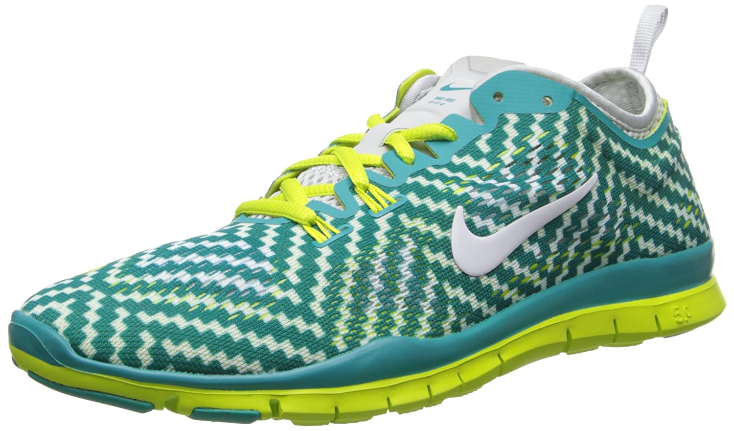 Women's Nike Wmns Free 5.0 TR Fit 4 Print White Flash Pink Sneakers : B46o230