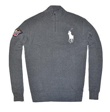 352281eb3 Polo Ralph Lauren Men Fashion Big pony Mock Neck Sweatshirt (S
