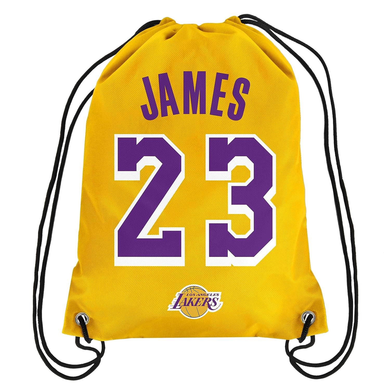 2855b1fbd Amazon.com   NBA Los Angeles Lakers LeBron James  23 Drawstring Backpack