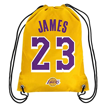 big sale 5a98e 0f3c9 NBA Los Angeles Lakers LeBron James #23 Drawstring Backpack, Los Angeles  Lakers, One Size