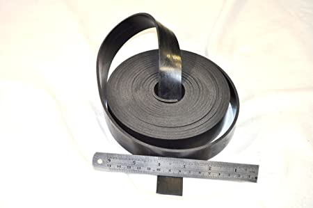 En caoutchouc bande de 10/mm de large x 1/mm d/épaisseur x longueur 5/m/ /en n/éopr/ène solide en caoutchouc noir